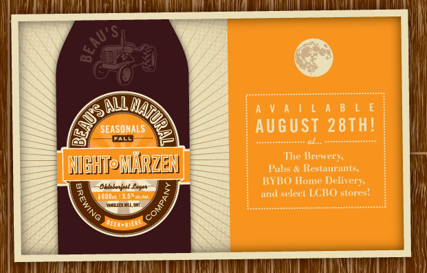 Launch of Beau's fall seasonal NightMarzen